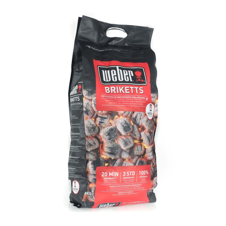Weber 17591 -Briquetas de carbón vegetal para barbacoa, 8 kg, 2 Unidades: Amazon.es: Jardín
