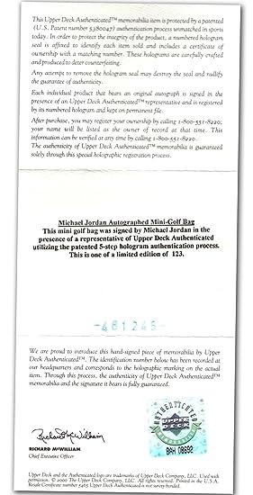 Desconocido Bolsa de Golf firmada por Michael Jordan - 48 ...