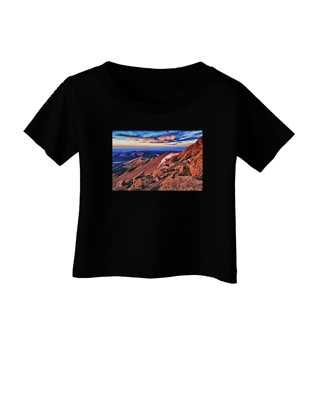TooLoud Colorado MTN Sunset Infant T-Shirt Dark