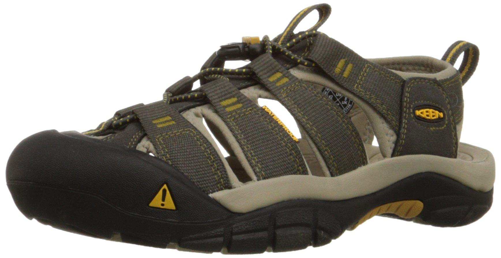 KEEN Men's Newport H2 Sandal, Raven/Aluminum, 9 M US
