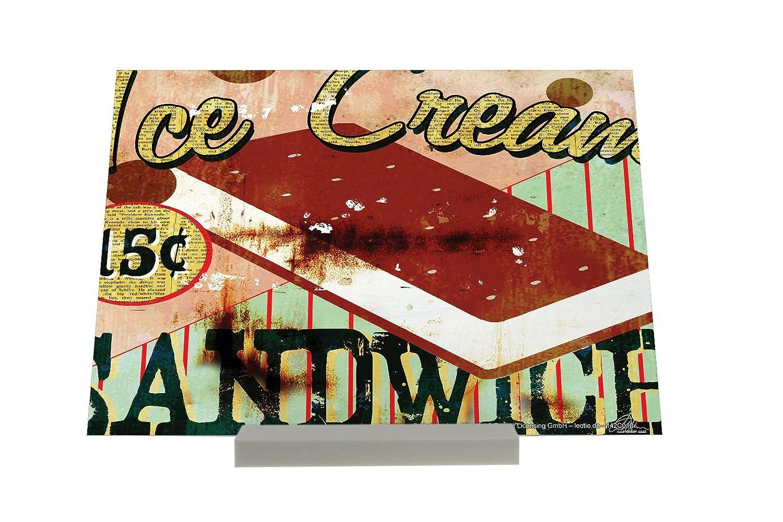 impresión del arte Soporte Fotografias Agencia De Viajes Vacaciones M.A. Allen ice Cream Sandwich: Amazon.es: Hogar