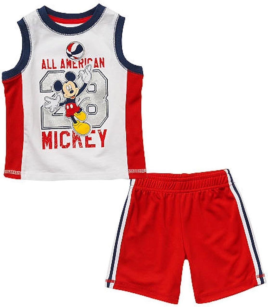 Disney Mickey Mouse Baby Boys Tank Top /& Shorts Set
