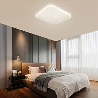Ceiling Light Led Bathroom Kitchen Bedroom Ceiling Lights Shower Living Dinning Room Study Balcony Corridor Hallway Ceiling Lamp Natural White 4000k Modern Square Waterproof 2050lm 26w Lusunt Amazon Co Uk Lighting