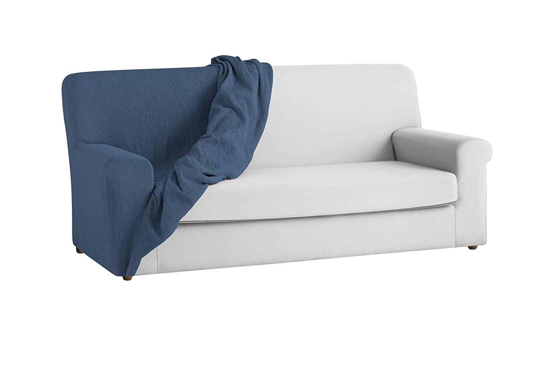 textil-home Funda de Sofá Elástica TEIDE, 1 Plaza - Desde 70 a 100 cm. Color Azul: Amazon.es: Hogar