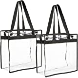 "2-Pack Transparent Bag - Clear Tote Bag with Zipper - Stadium Approved 11.75"" x 11.5"" x 5.75"""