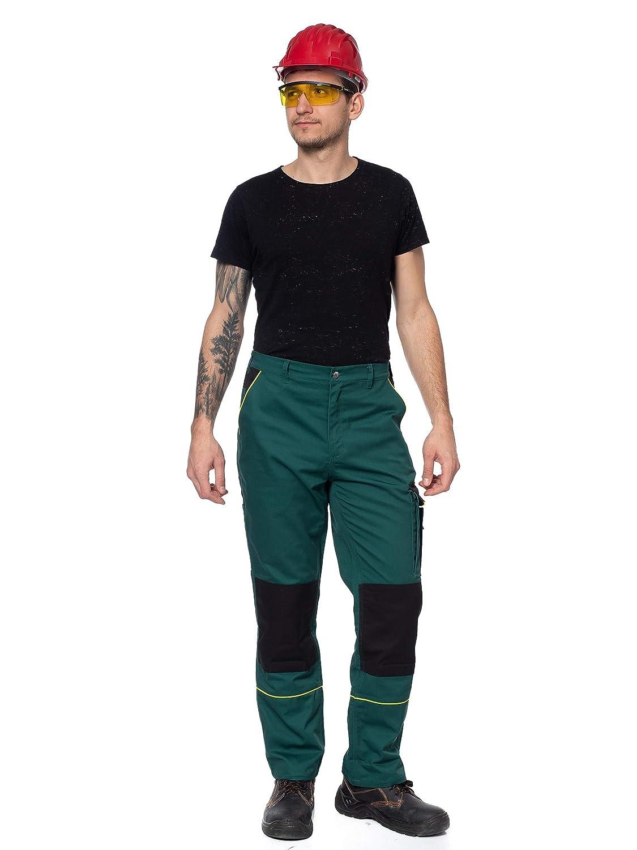 Plusieurs Couleurs Poches Multifonctions//de genouill/ères Bandes r/éfl/échissantes DINOZAVR Pantalon 1 de Travail//Cargo pour Homme Robuste