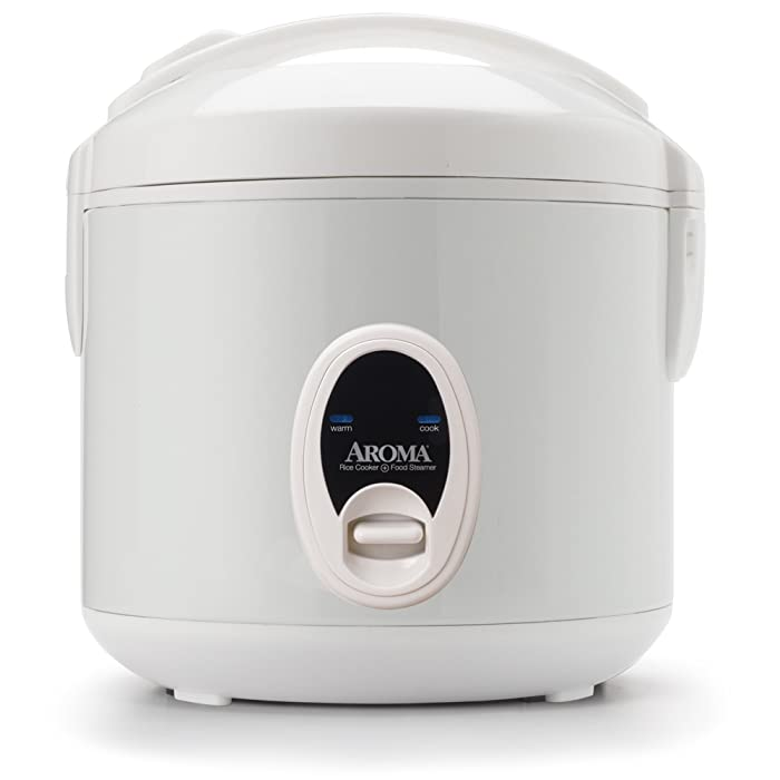 Aroma Housewares 8-Cup (Cooked)(4-Cup UNCOOKED) Cool Touch Rice Cooker & Food Steamer (ARC-614BP)