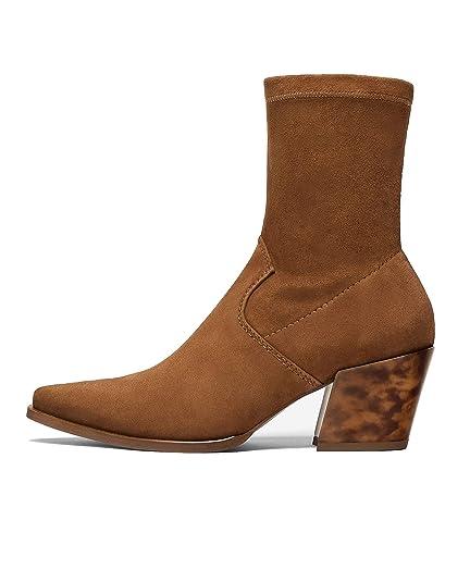 94289986daa02 Uterque Women's Cowboy Boots with Tortoiseshell Heel 4017/051 ...