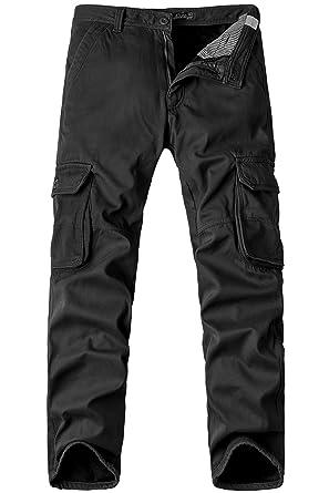 Grande Pour Hiver Buluomu Taille Hommes Pantalons Pantalon Cargo a8EWqwR