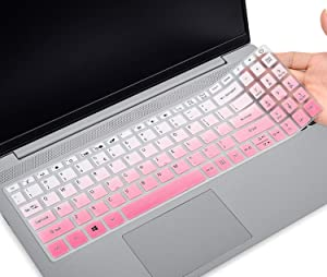 CaseBuy Keyboard Cover for Acer Aspire 5 Slim Laptop 15.6 inch A515-43 A515-54 A515-54G Series, Acer Aspire 5 Slim Keyboard Protective Skin, Acer Aspire 5 Laptop Accessories,Ombre Pink