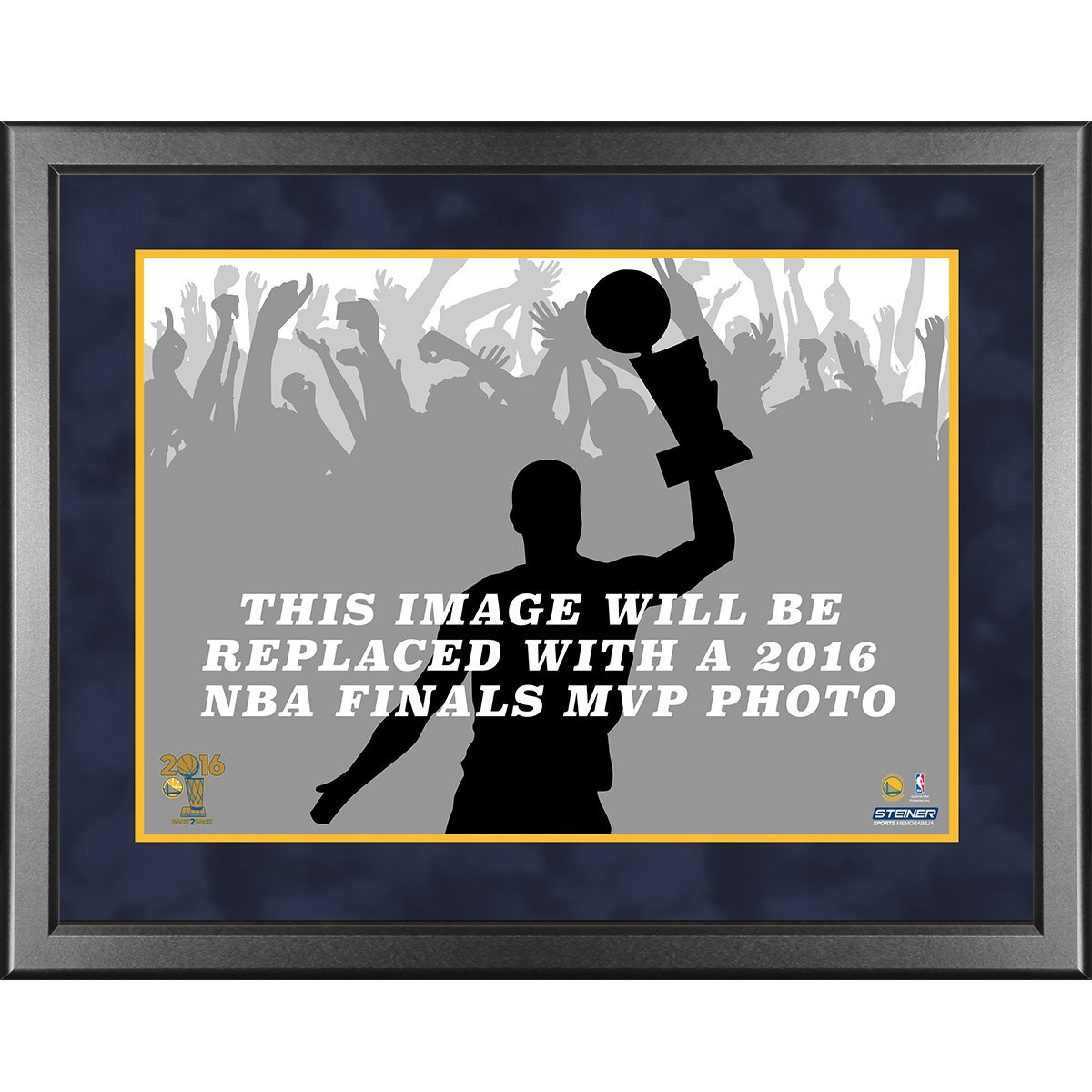 NBA Golden State Warriors Unisex 2016 NBA Champion Golden State Warriors 11x14 MVP Collage, Navy