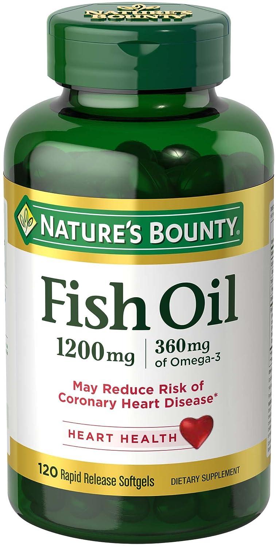 海外直送品3本   、ネイチャーズバウンティオメガ3フィッシュオイル、1200mgの、自然の恵みによって、120ソフトジェル  海外直送品 3 BOTTLES   , Natures Bounty Omega-3 Fish Oil, 1200 mg , 120 softgels by Nature's Bounty B001GAOGHQ