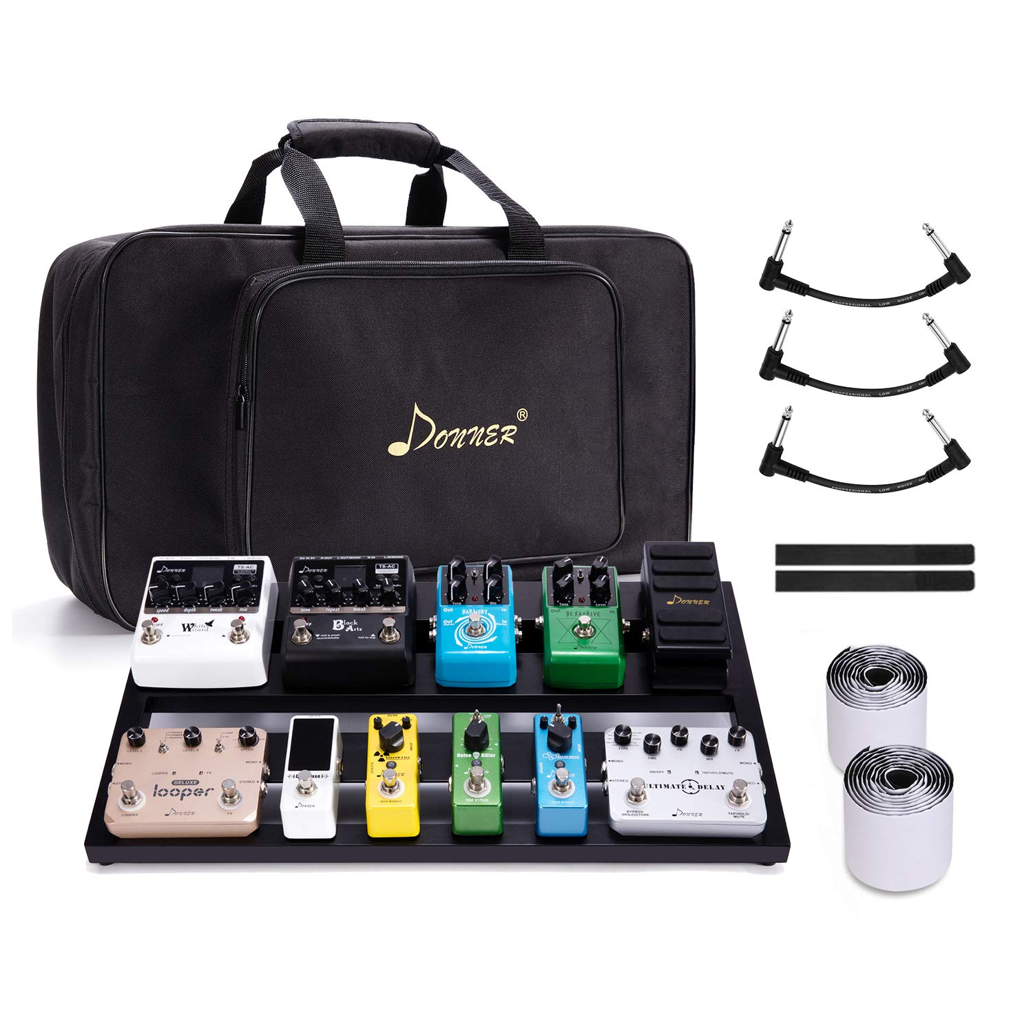 Donner Guitar Pedal Board Case DB-3 Aluminium Pedalboard 20'' x 11.4'' x 4'' with Bag by Donner
