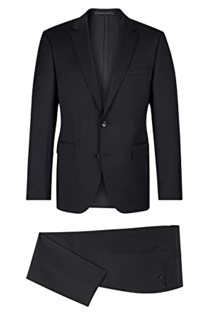 85b99893 Amazon.com: Hugo Boss Men's Johnston/Lenon Trim Fit Solid Black Suit:  Clothing