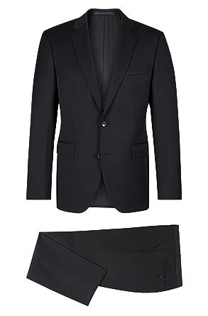 9e51700e0 Amazon.com: Hugo Boss Men's Johnston/Lenon Trim Fit Solid Black Suit ...