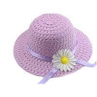 YUEMING Sombrero de Paja Niñas Gorra de Sol Chica, Gorro de Playa Niñas Cap Playa de Verano Protección Solar…