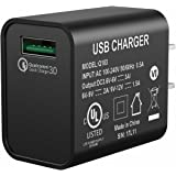USB Wall Charger, Seneo QC 3.0 Power Adapter, 2.4A 18W Wall Charger for Fast Wireless Charger, iPhoneX/8/8Plus/7/7Plus/6Plus, Galaxy Phones, iPad Pro/Air 2/mini 3/mini 4, HTC, Nexus, Moto and More