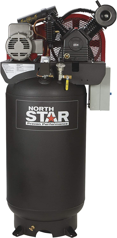 NorthStar Electric Air Compressor - 7.5 HP, 80-Gallon Vertical, 230 Volt, 24.4 CFM at 90 PSI