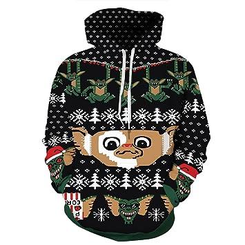 OJ Navidad Sudadera con Capucha/Copo de Nieve patrón de Mono/Deportes Capucha suéter/otoño/Regalos de Fiesta: Amazon.es: Deportes y aire libre