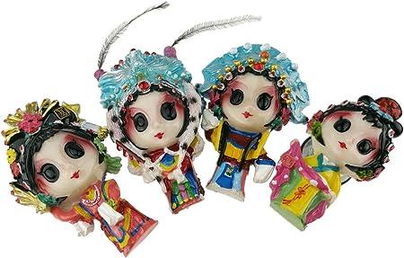 Pack de 4 estilo chino tradicional Opera cuatro bellezas de la antigua China resina imán de frigorífico con primavera dejar una nota de accesorios de frigorífico cocina decoración del hogar regalo: Amazon.es: