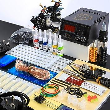 Tatooine Professional Tattoo Kit 2pcs Machine Guns 54 Bottle Inks Tattoo Machine Set Needles Tips Supplies Kit Tattoo Tools For Starter