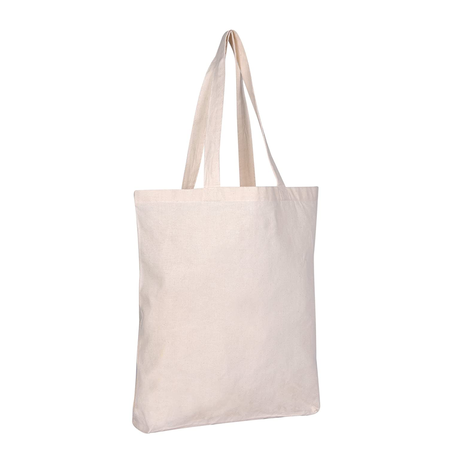 a508d14e4d49 Amazon.com  Set of 50 - Wholesale 100% Natural Cotton Plain Tote Bags