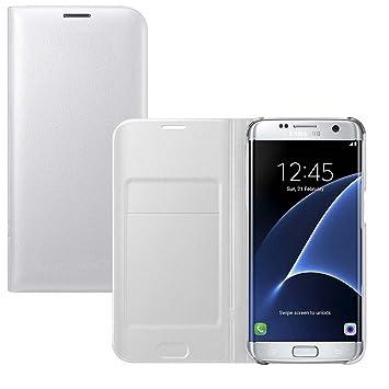 Lincivius Funda Samsung S7 Edge [Flip Cover] Carcasa Galaxy S7 Edge Proteccion con Tapa A Libro Estuche Resistente Anti Golpes Accesorios
