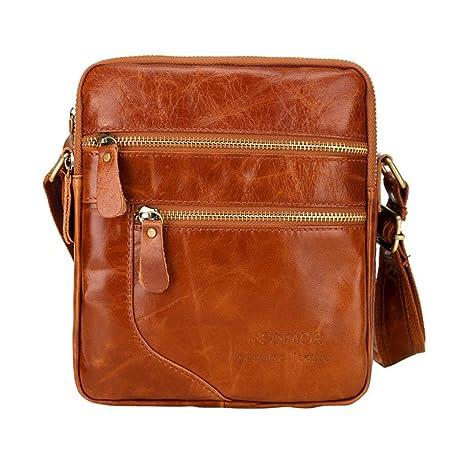 bf7cc720d3 Gotd Men Boy Leather Crossbody Bussiness Shoulder Bag Tassel Messenger  Strap Messenger Handbag Tote on sale