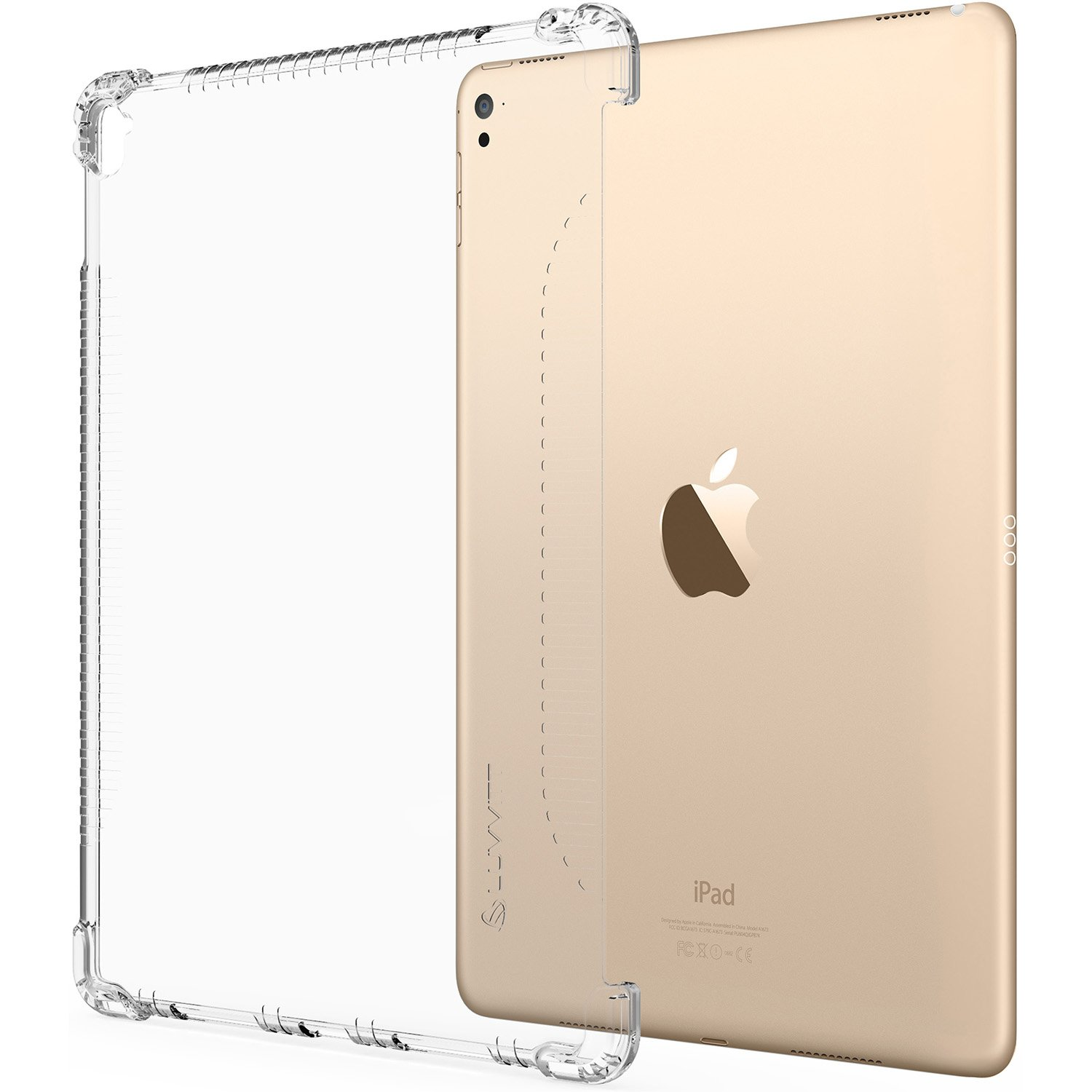 iPad 9.7 Case, LUVVITT Clear Grip Smart Cover and Keyboard Compatible Case for Apple iPad 9.7 inch 5th and 6th Generation (2017-2018) - Clear (Not Compatible with Pro)