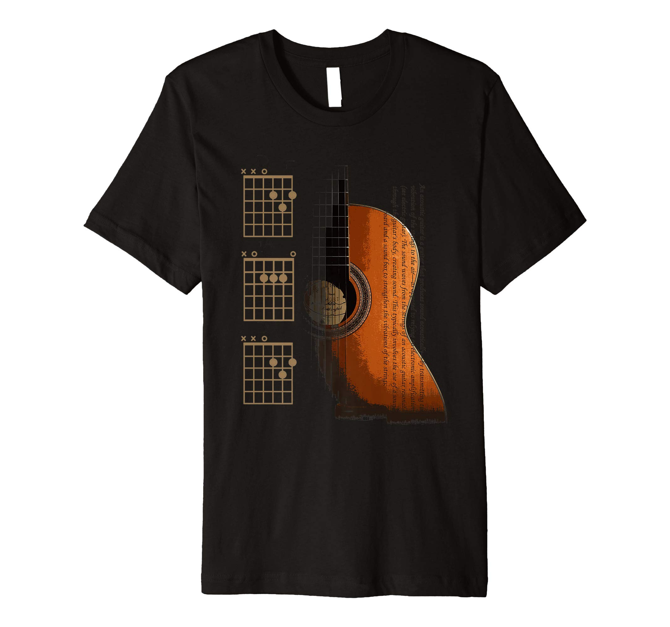 DAD Chords Acoustic Guitar For The Guitarist Premium T-Shirt by The Acoustic Guitarist