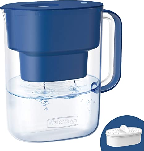12-Cup Water Filter Pitcher Long Lasting Fast Filtration Reduce TDS 4-Stage Jug
