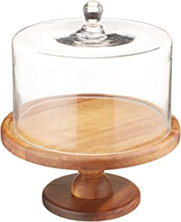 American Atelier Madera Pedestal Cake Plate  sc 1 st  Amazon.com & Amazon.com | American Atelier Madera Pedestal Plate with Dome Brown ...