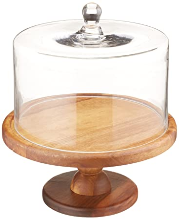 American Atelier Madera Pedestal Cake Plate  sc 1 st  Amazon.com : wooden cake plate - pezcame.com