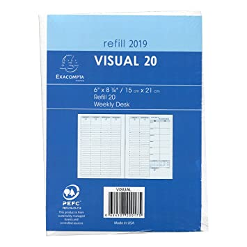 Quo Vadis 2019 Visual Yearly Planner Refill Only