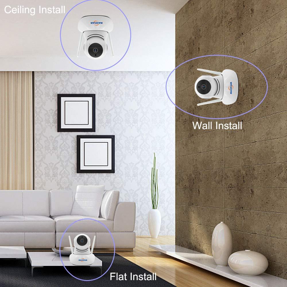 Animal a/în/é Cam/éra de s/écurit/é sans Fil 1080P Smart Vision Nocturne PTZ Audio bidirectionnelle WiFi Home Surveillance IP Cam/éra pour Suivi Automatique de b/éb/é