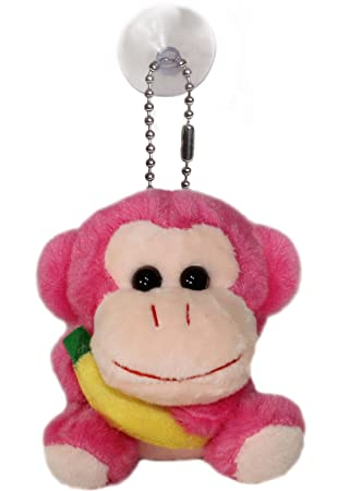 lucore feliz Mono Animal de peluche Peluche Llavero ...