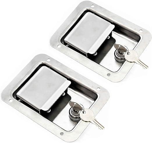 Amazon.com: TCH hardware paquete de 2 puerta de acero ...