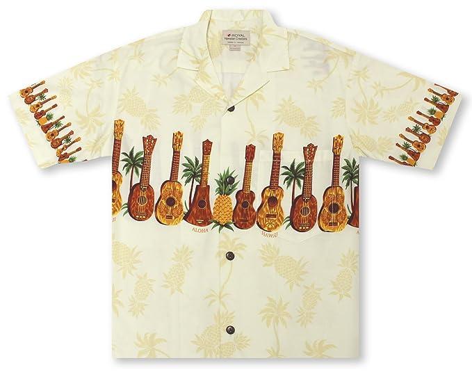 39f832c2 Royal Creations by Hilo Hattie Ukulele Chestband Hawaiian Shirt at ...