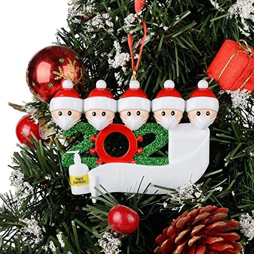 Amazon Com Deyiou 2020 Christmas Tree Ornament Xmas Hanging Decorations Diy Personalized Family Family Of 5 Home Kitchen