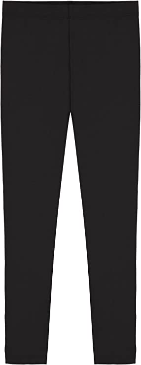 Pack of 8 -Multiple Colors-11-12 Years Indistar Big Girls Cotton Full Ankle Length Solid Leggings