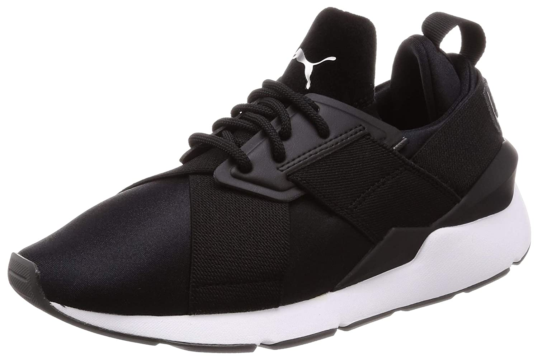 Puma Damen Sneaker Muse Satin Sneakers II Sneakers Satin Frauen Puma schwarz/Asphalt 4b0582