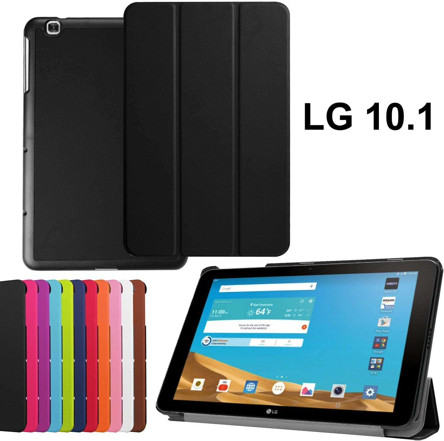 Asng LG G PAD X 10.1 Case - Ultra Slim Lightweight Standing Cover for LG G Pad 2 10.1 inch (V940) / LG G PAD X 10.1 Inch (4G LTE AT&T V930) Android ...