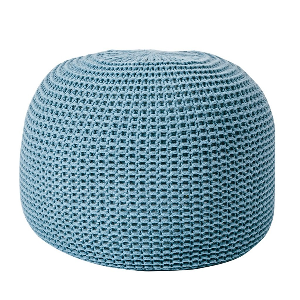STORAGE OTTOMANS Household Lazy Stool Round Footstool Living Room Woven Cushion Balcony Door Shoe Bench