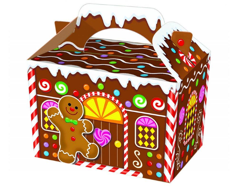Christmas Gingerbread House Cartoon.Christmas Gingerbread House Party Box