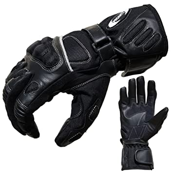PROANTI Motorradhandschuhe Sommer Tour Motorrad Handschuhe (Gr. XS XXL, schwarz)