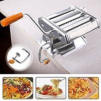 Pasta Maker Machine, 3 in 1 Hand Made Stainless Steel Pasta Machine Cutter for Spaghetti Lasagna Tagliatelle