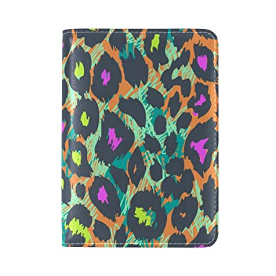 La Random Animal Fur Pattern Passport Holder Cover Leather Travel Passport Wallet Case
