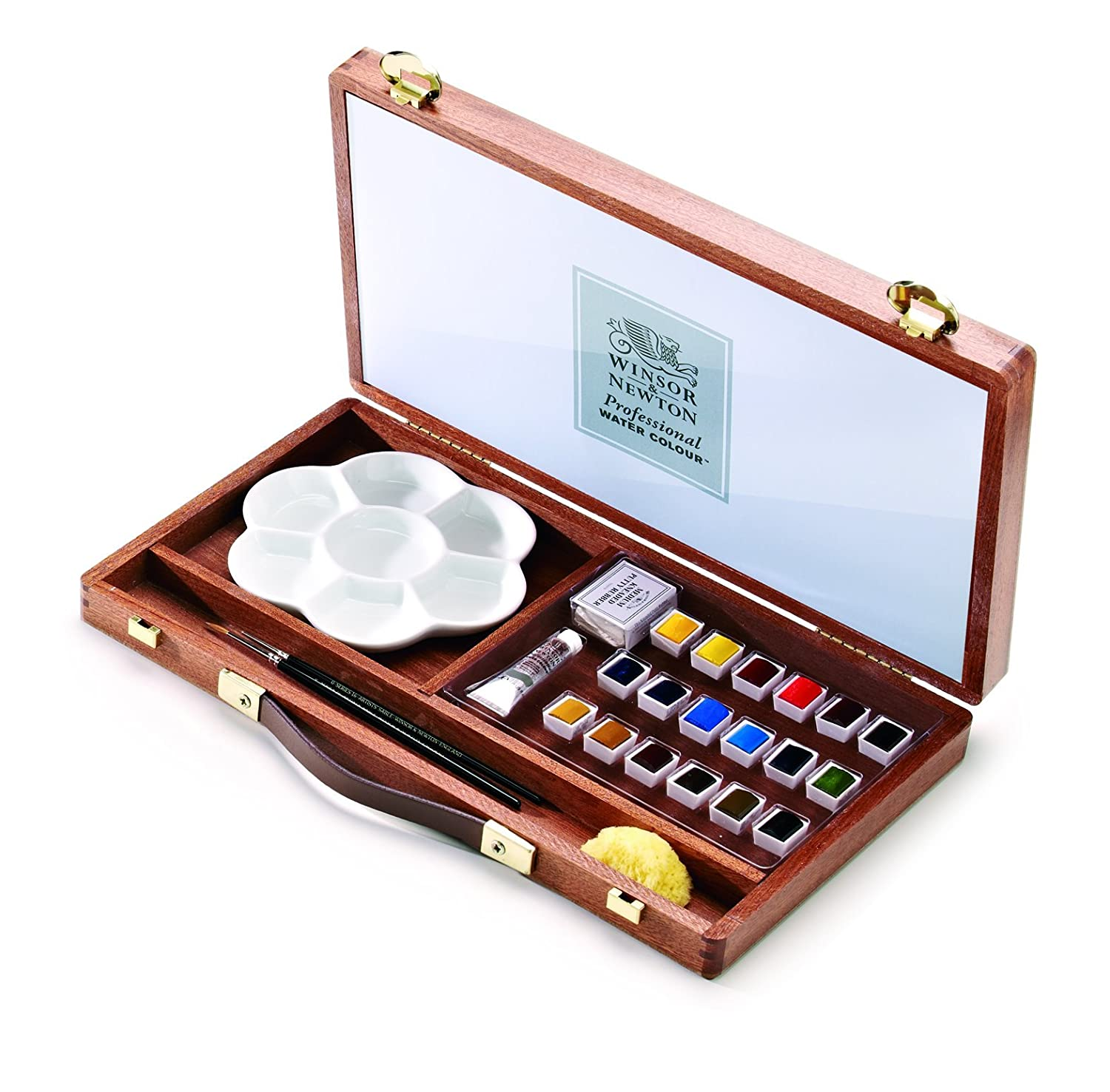 Winsor & Newton Artists' Water Colour Paint Set - Piccadilly Wood Box