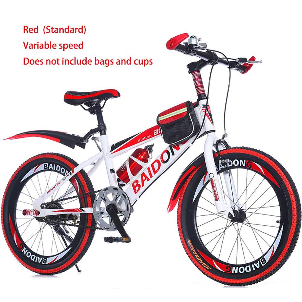 rouge(standard) 1speed Enfant Vélo Tout-Terrain Bicyclette Unisexe BMX,20 Pouce,Frein en U,1 Vitesse,Vitesse Variable,Jaune Bleu Rouge