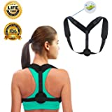 MOORAY Back Brace Posture Corrector for Men and Women Breathable and Adjustable Upper Back Brace - Posture Support Device for Hunching Womens Posture Corrector Under Clothes Neck Pain Relief